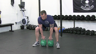 double kettlebell deadlift - step 3