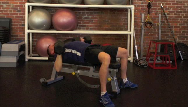 Picture of a male doing Dumbbell Chest Press Exercise