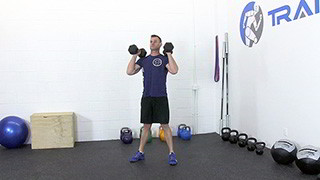 dumbbell front squat - step 1