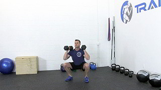 dumbbell front squat - step 2