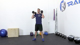 dumbbell front squat - step 3
