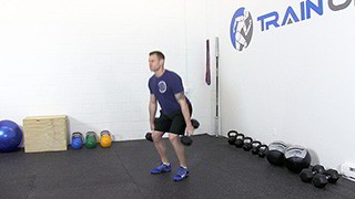 dumbbell hang clean - step 1