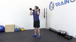 dumbbell hang clean - step 3