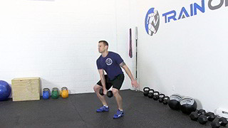 dumbbell hang snatch - step 1