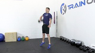 dumbbell hang snatch - step 2