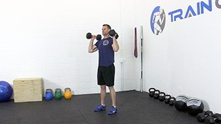dumbbell push press - step 1