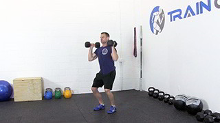 dumbbell push press - step 2
