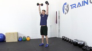 dumbbell push press - step 3