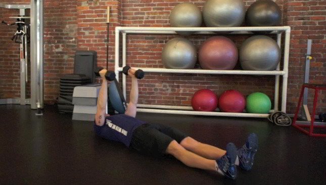 dumbbell sit-ups - step 1