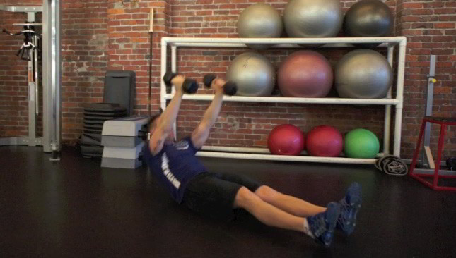 dumbbell sit-ups - step 3