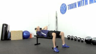 Picture of a male doing Dumbbell Skull Crushers Exercise