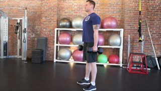 dumbbell squat - step 3