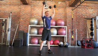 dumbbell thrusters - step 3