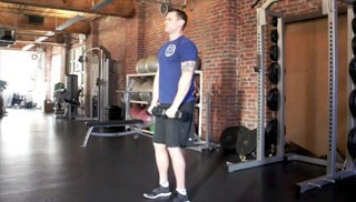 front dumbbell shoulder raises - step 3