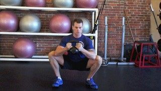 goblet squat hip opener - step 1