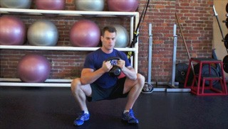 goblet squat hip opener - step 2