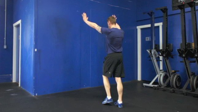 hand stand against wall - step 1