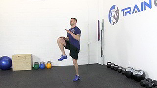 high knee running - step 1