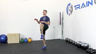 Picture of a male doing High Knee Running Exercise