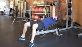 Picture of a male doing Incline Alternating Press Exercise