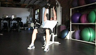 incline dumbbell fly - step 1
