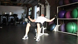 incline dumbbell fly - step 2