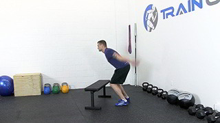 jump over bench - step 2