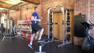 jump ups on bench - step 3