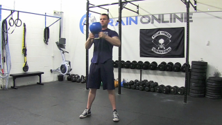 kettlebell halo - step 1