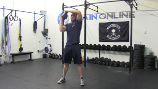 Kettlebell Halo exercise for men