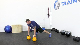 kettlebell renegade row - step 1