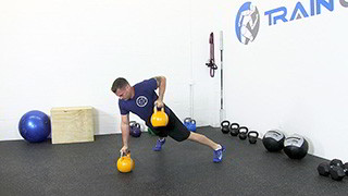 kettlebell renegade row - step 2