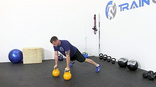 kettlebell renegade row - step 3