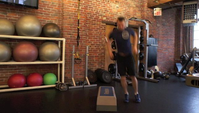 lateral box jumps - step 1