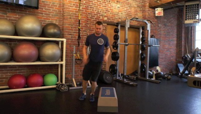 lateral box jumps - step 3