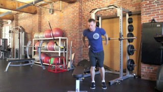 lateral jump overs - step 1
