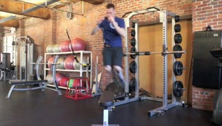 lateral jump overs - step 2