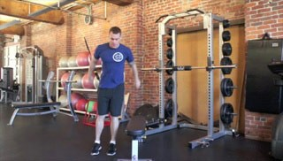 lateral jump overs - step 3