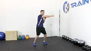 Picture of a male doing Left Right Combo Exercise
