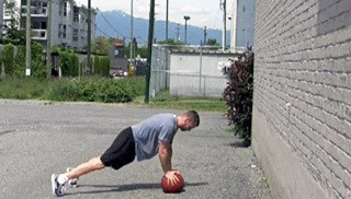 Picture of a male doing Med Ball Burpee Throws Exercise