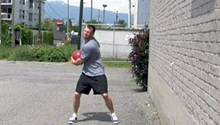 med ball wall throws - step 1