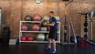 medicine ball slams - step 1