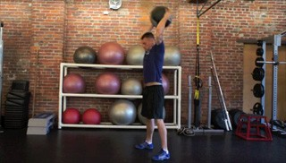 Picture of a male doing Medicine Ball Slams Exercise