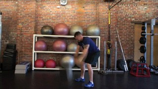 medicine ball slams - step 3