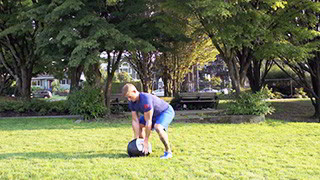 outdoor burpee press - step 1