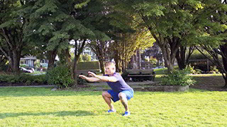 outdoor jump squats - step 1