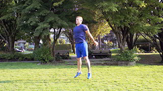 Picture of a male doing Outdoor Jump Squats Exercise