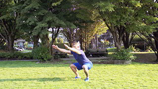 outdoor jump squats - step 3