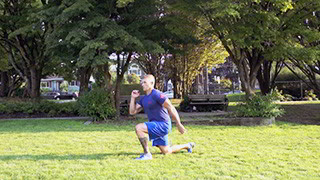outdoor jumping split lunge - step 3