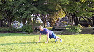 outdoor plyo push-ups - step 3